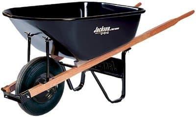 Ames True Temper 6 Cubic Feet Steel Tray Contractor Wheelbarrow, Black