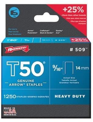 9/16'' Type Staples, 250 Per Box