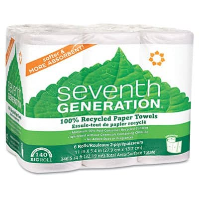 100% Recycled Paper Towel Rolls