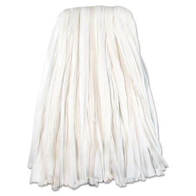 Nonwoven Cut End Edge Mop, Rayon/Polyester, 24 oz, White