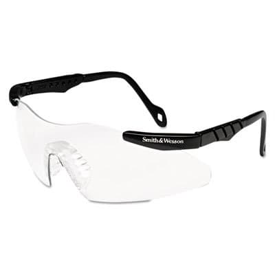 Magnum 3G Safety Eyewear, Black Frame, Clear Lens