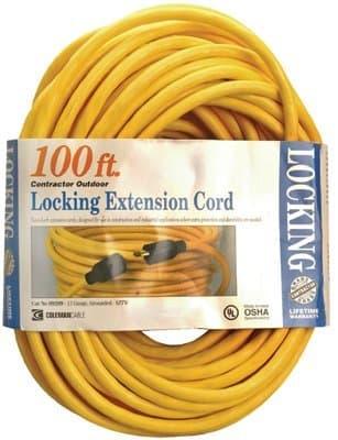 Coleman 50-ft Twist Lock Extension Cable 12/3 SJTW