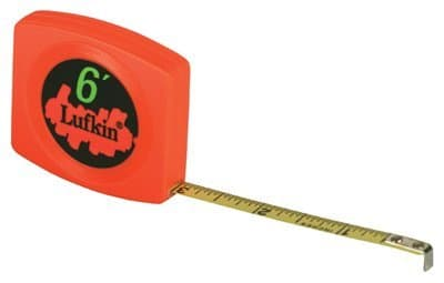 10' Yellow Clad Steel Peewee Measuring Tape