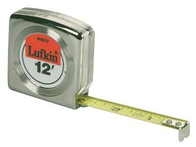 "1/2""X12' Chrome Yellow Clad Mezurall Measuring Tape"