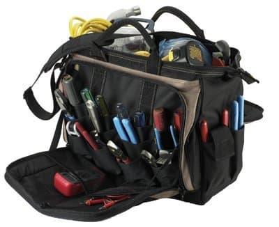 Custom LeatherCraft 18'' Multi-Compartment Tool Carrier