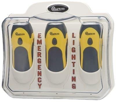 Emergency Light Center with Recharging Station, (3) 7111 Flashlights