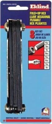 Inch Fold Up Hex Key Set, 8 Keys