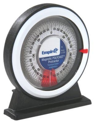 360 degree Magnetic Polycast Protractor