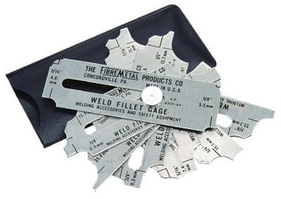 """Stainless Steel Weld Fillet Gage Set 1/8""""-1"""""""