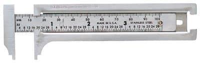 "General Tools 3"" Pocket Caliper Stainless Steel"