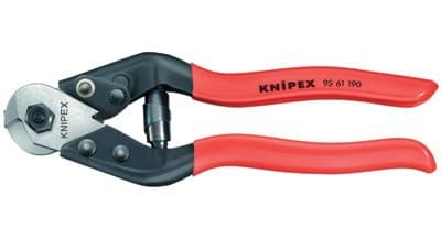 Tool Steel Wire Rope Cutters with Plastic Coated Handle