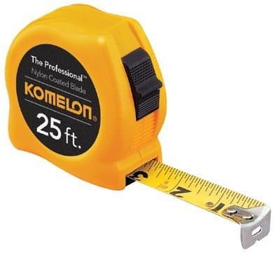 "30'X1"" Yellow Case Steelpower Measuring Tape Nylon Coat"
