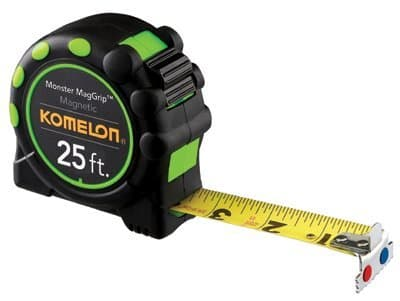 """1""""X 25' Heavy Duty Mag Grip Professional Measuring Tape"""