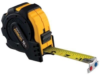 "1""X16' Steel Measuring Tape Mag Grip Rubber Jacket"
