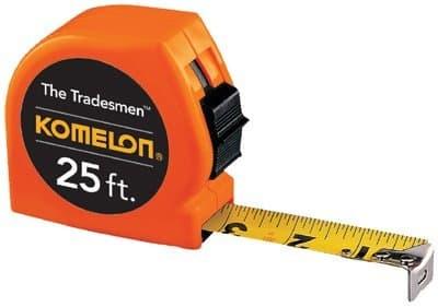 "1""X25' Neon Orange Tradesman Measuring Tape"