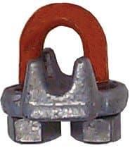 Columbus McKinnon 3/8 Forged Steel Galvanized Zinc Wire Rope Clip
