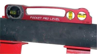 Anodized Aluminum Builders Spirit Pocket Pro Level