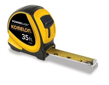 "Komelon 35' X 1-1/16"" ABS Hi Viz Yellow Powerblade Tape"