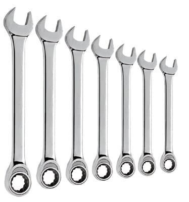7 Piece High Access Ratcheting Wrench Set