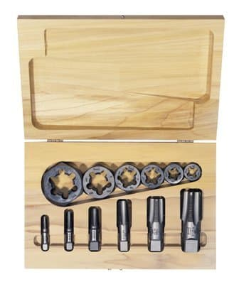 Irwin High Carbon Steel 12 Piece Tap and Re threading Pipe Die Set
