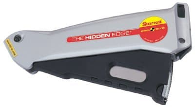 Hidden Edge Utility Knife with Adjustable Cutting Depth