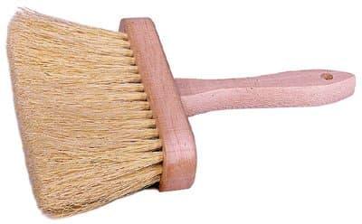 """6-3/8"""" Masonry Brush White Tampico"""