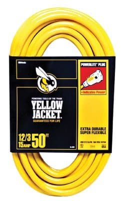50 FT, 12 Gauge, Yellow Jacket, Triple Conductor, Extension Cord