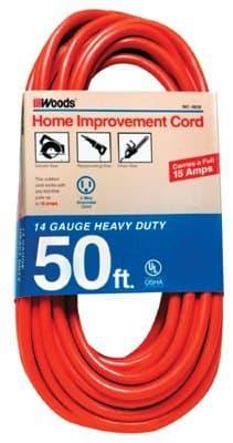 100FT, 14 Gauge Extension Cord, Orange