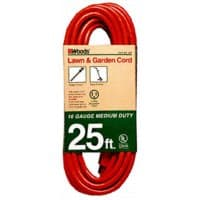 25FT, Triple Conductor, Extension Cord, Orange