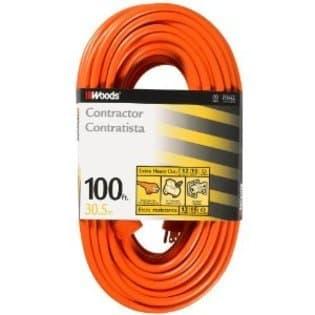 100- ft Outdoor Extension Cord, Orange