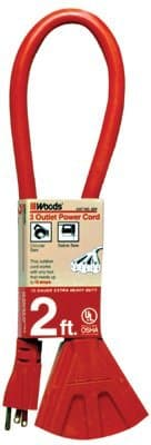 2FT Power Block Extension Cord