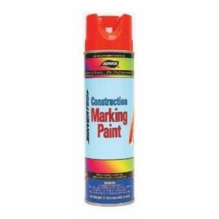 Aervoe 16 oz Fluorescent Orange Construction Marking Paint