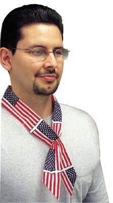 Allegro 38-in Cotton Cooling Wrap, American Flag Design