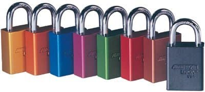 Red 5 Pin Keyed Different Solid Aluminum Padlock
