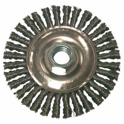 """4"""" Carbon Steel Stringer Bead Wheel Brush"""