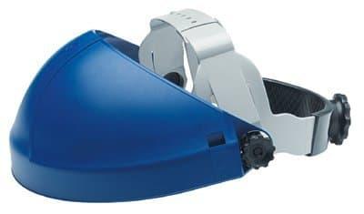 AO Safety Blue Ratchet Deluxe AO Tuffmaster Headgear w/ Faceshield