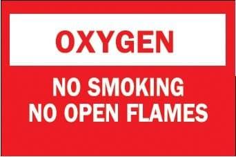 No Smoking No Open Flames Chemical & Hazardous Material Signs