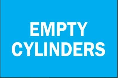 Empty Cylinders Chemical & Hazardous Material Signs
