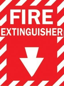 """Health & Safety """"Fire Extinguisher"""" Sign"""