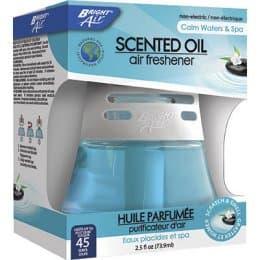 Bright Air Scented Oil Air Freshener, Calm Waters & Spa, White/Blue