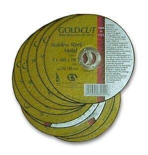 "Carborundum 4-1/2"" GoldCut Reinforced Aluminum Oxide Abrasive"