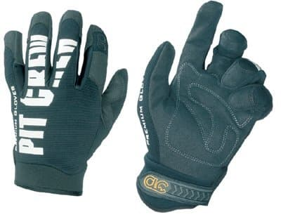 Large Synthetic Leather Pit Crew Gloves