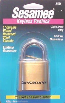 Marine Type Brass Sesamee Keyless Padlocks