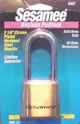 Hardened Steel, Chrome Plated Sesamee Keyless Padlocks