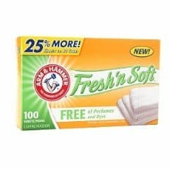 Arm & Hammer Arm & Hammer Free & Clear Fabric Softener Dryer Sheets
