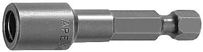 """6"""" 1/4"""" Drive Tool Steel Hex Nutsetter Power Bit"""