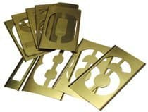 15 Pieces Brass Stencil Single Number Set