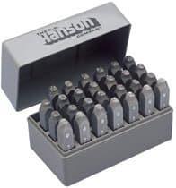 General 3/8 Purpose Letter Stam Standard Steel Hand Stamp Set