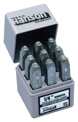 1/4 9 Pieces Premier Steel Hand Stamp Sets