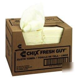 Chicopee Yellow, Fresh Guy Towels-13.50 x 13.50